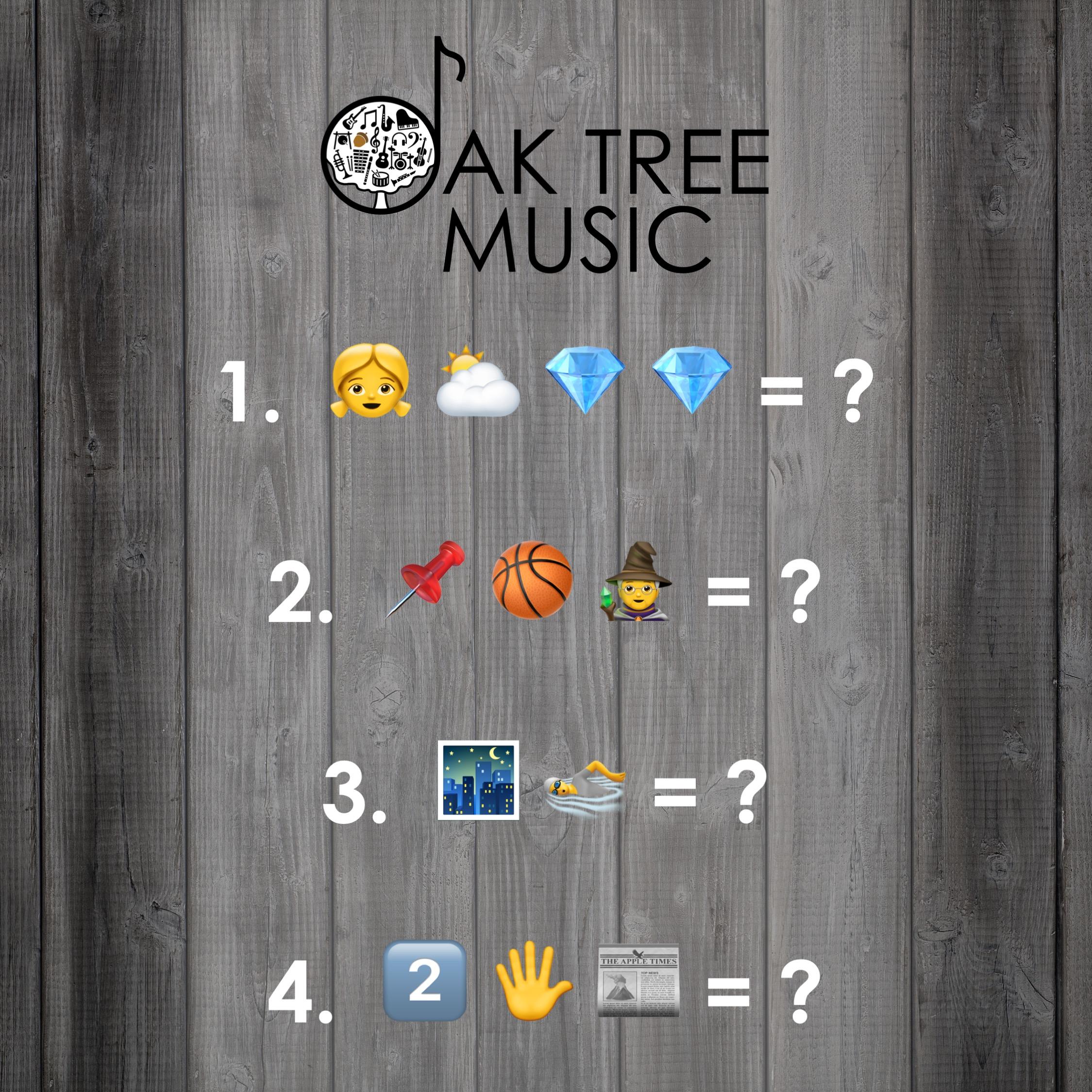 Oak Tree Music's Emoji Songs #1